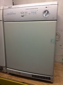 White hotpoint 6kg condenser dryers good condition with guarantee bargain
