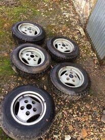 Range Rover Classic tubeless alloy wheels x 5