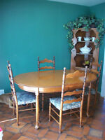 Dinette Set and Hutch