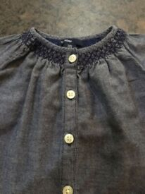 Stunning Baby Gap blue cotton top age 3-6 Months perfect