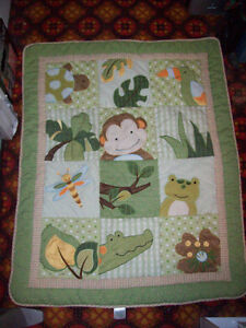 Padded baby blanket like new.