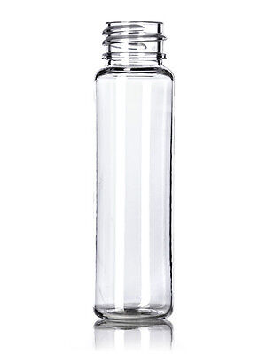 1 Oz 30 Ml Clear Plastic Cylinder Round Slim Bottles Wcaps Lot Of 100