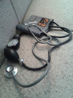 NURSES STETHOSCOPE AND BLOOD PRESSURE MONITOR