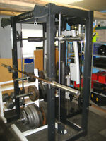 Complete home gym, Commercial grade, 1,330 lbs of weights
