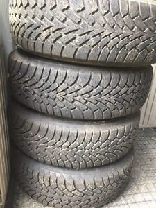 Goodyear Nordic winter tires with rims 235/65/16