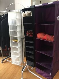 3 Ikea hanging storage compartment