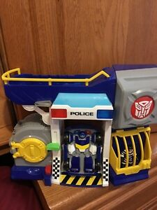 Rescue bots chase toy