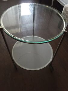 Glass Bar Cart/Side Table for sale