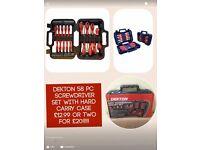 Deskton 58pc tool set screwdriver set mobile home Gardner use