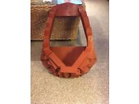 Beautiful Hand Made Wooden Planter Hanging Basket (unused)