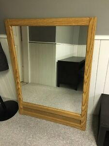 Mirror and tv stand.