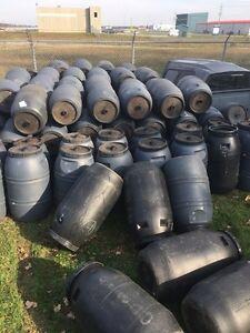 Plastic screw tops 55 gallons London Ontario image 1