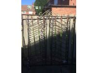 Wrought iron gates with hinges