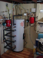 500 Litre -insulated storage tank with dual copper exchangers.