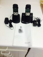 Phillips 6.0 two sets with speaker phone