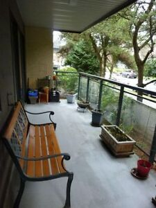 Large & furnished 1BR & large balcony in trendy Mount Pleasant