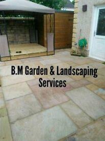 B.M Garden & Landscaping services. fencing,patios,artificial grass,turfing,grass Cutting