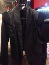Leather trim black jacket - New Black jacket with leather trim size12 Bankstown Bankstown Area Preview