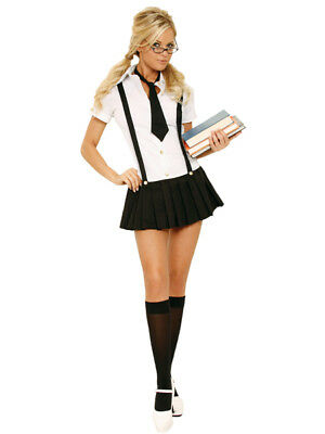 Business School Girl 2pc Costume 16 18 20 Fancy Dress Hen Night Party SchoolGirL ()