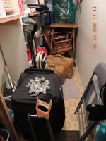 SUITCASES AND OTHER STORAGE ITEMS