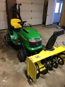 John Deere L110 riding mower w/ snow blower