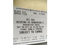 UFC 204 BISPING VS HENDO x4 tickets all sat together