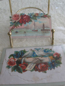 2 SAMPLE GIFT-ENCLOSURE CARDS from the EARLY 1900's