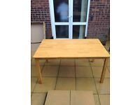 Pine look dining table