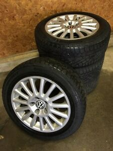 4 Winter tires on VW Rims St. John's Newfoundland image 1