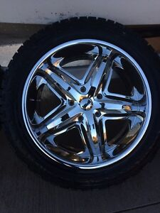 "22"" DUB wheels with tires London Ontario image 2"