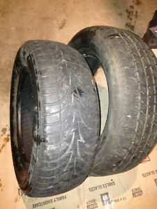 2 Winter Tires-Size 225/60/16 for only $20 each Cambridge Kitchener Area image 1
