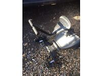 Pushchair/ buggy board with seat attachment universal fitting
