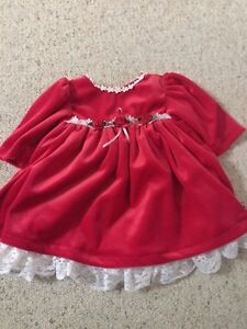 Christmas Holiday dress 0/3 months