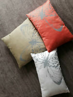 Set of Three Butterfly Pillows
