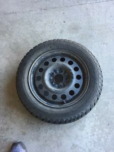Set of Goodyear winter tires and rims  Sarnia Sarnia Area image 1