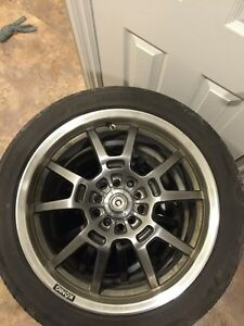 17 Konig rims/ Yokohama tires Kingston Kingston Area image 1
