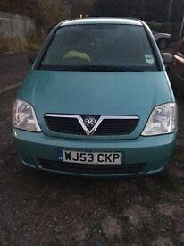Vauxhall Meriva 2003. Mot may 2017