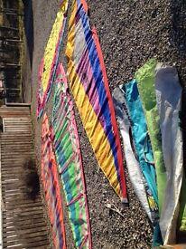 Windsurf equipment - 2 boards, 4 sails, mast, boom, fins