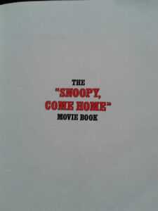 THE SNOOPY COME HOME MOVIE   BOOK 1972  COLLECTABLE London Ontario image 3
