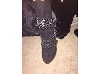 Next black shoe boots