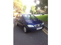 2003 VAUXHALL ZAFIRA 16V CLUB 7 SEATER 1.6L PETROL FOR SALE