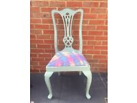 Funky Tye dyed shabby chic duck egg blue chair