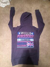 Ladies jack wills hoodie size 10