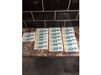 AK47 £5 notes, Polymer, uncirculated, mint, £30 each