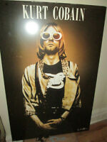 ***GREAT LARGE DRY-MOUNTED KURT COBAIN POSTER!!!***