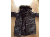 Boys Brown Parker coat