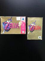 Boite et livret du jeu ''Zelda Ocarina of time'' (Nintendo 64)
