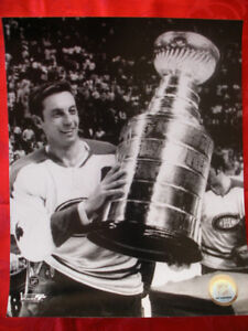 Jean Belliveau Montreal Canadiens 8 x 10 Black and White Photo
