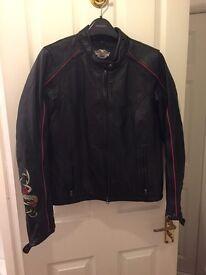 Genuine Harley Davidson women's/ladies leather jacket size medium immaculate condition