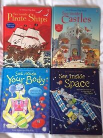 Bundle of 4 Usbourne lift the flap books